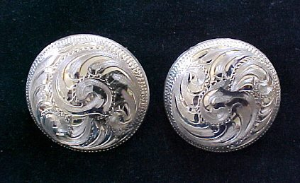 western conchos add style to your spur straps